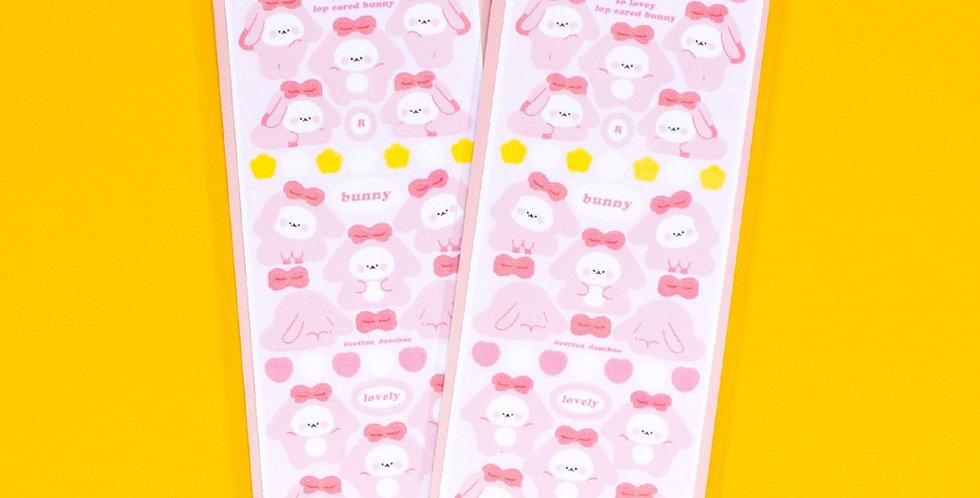 COTTON DANCHOO Pink Lop Bunny Sticker