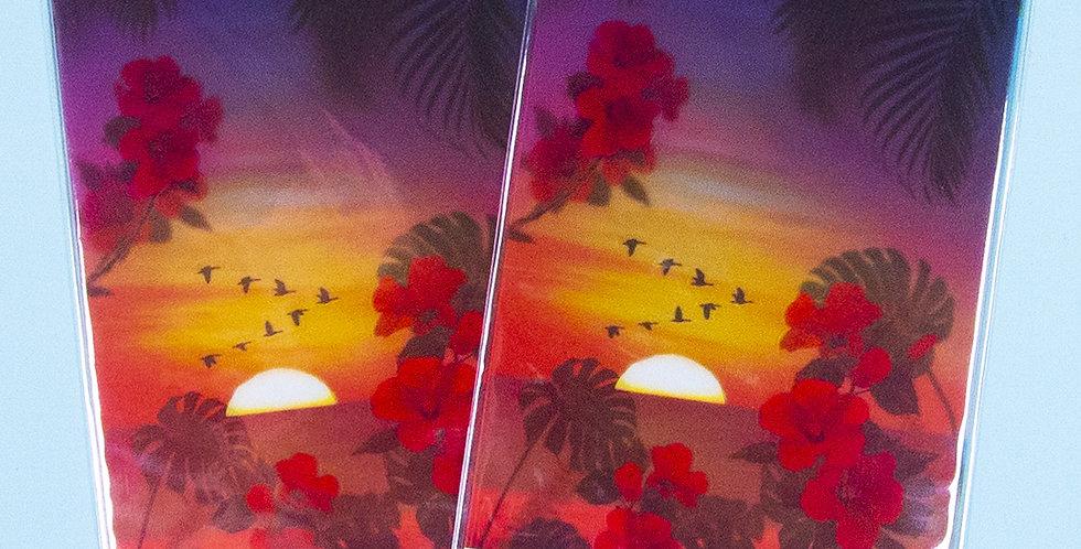 APPREE Tropical Sunset Nature Scene Sticker
