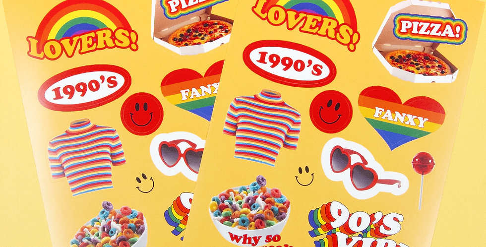 LOVE THINGS 90's Vibe Sticker
