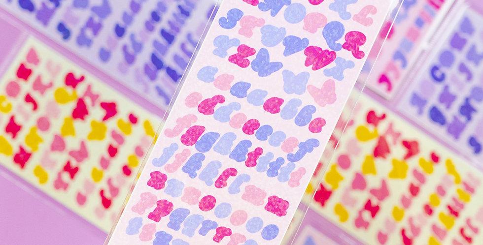 BE ON D Butterfly ABC Twinkle Sticker