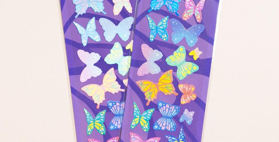 MANTA BOX Shiny Fluttering Butterfly Sticker