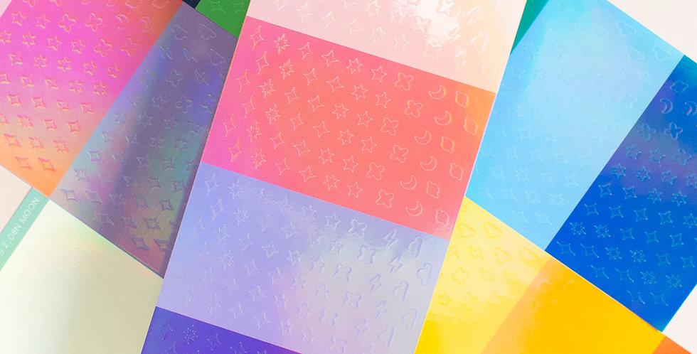 POLARIS SPACE Day & Night Prism Icon Sticker
