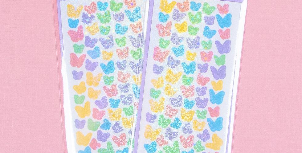 COTTON DANCHOO Colorful Pastel Butterfly Sticker