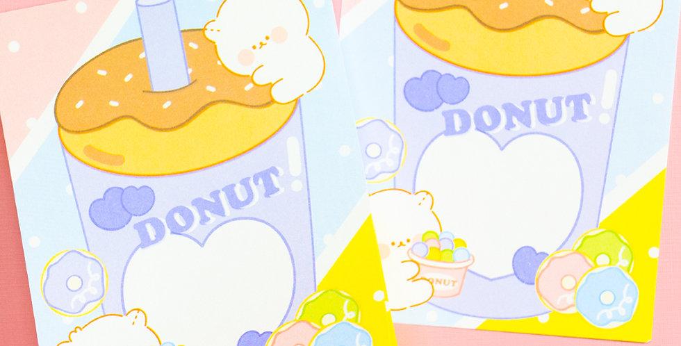 COTTON DANCHOO Donut Memo