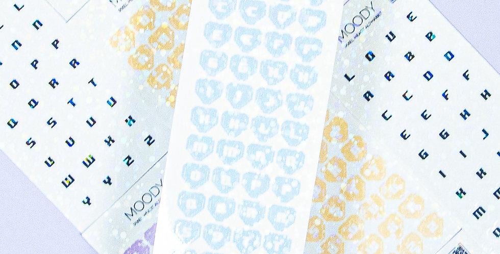 MOODY Pixel Heart Alphabet  Sticker