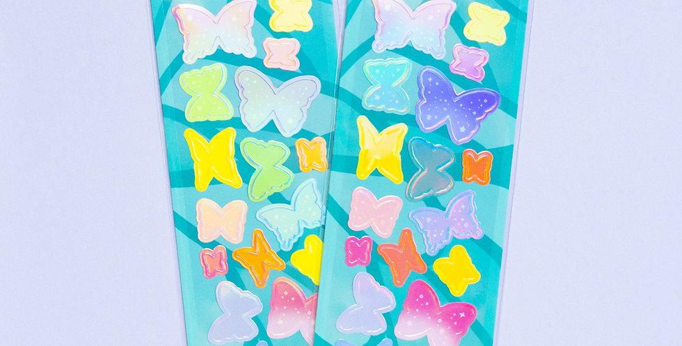 MANTA BOX Shiny Butterfly Inside Butterfly Sticker