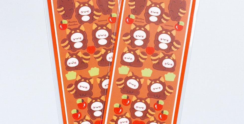 COTTON DANCHOO Raccoon Sticker
