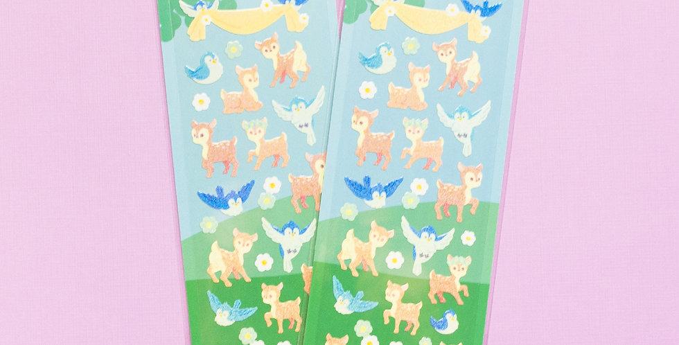 MANTA BOX Twinkle Baby Deer and Bluebird Sticker