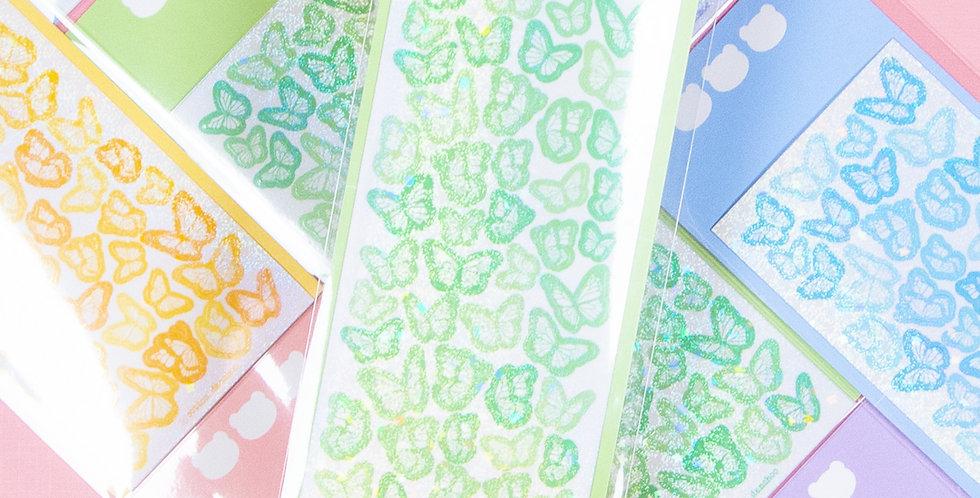 COTTON DANCHOO Pastel Butterfly Deco Sticker
