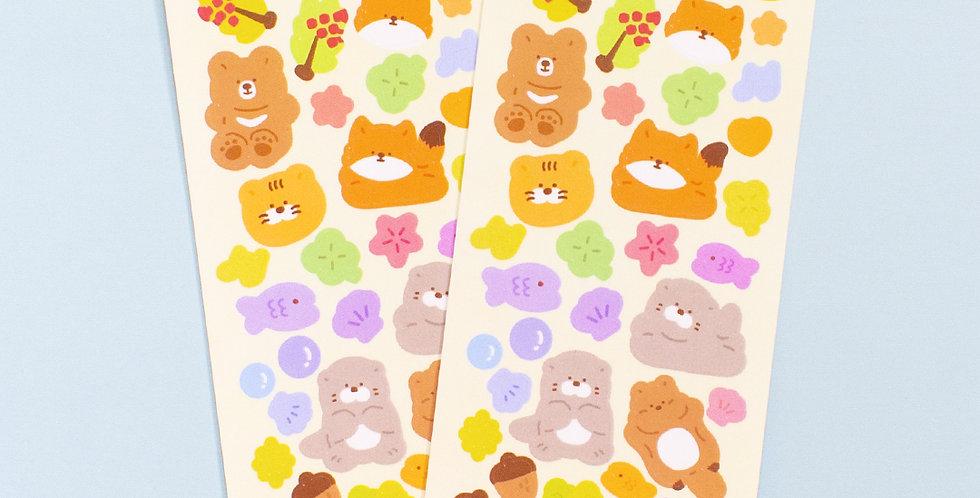 OKIKI Endangered Friends Sticker