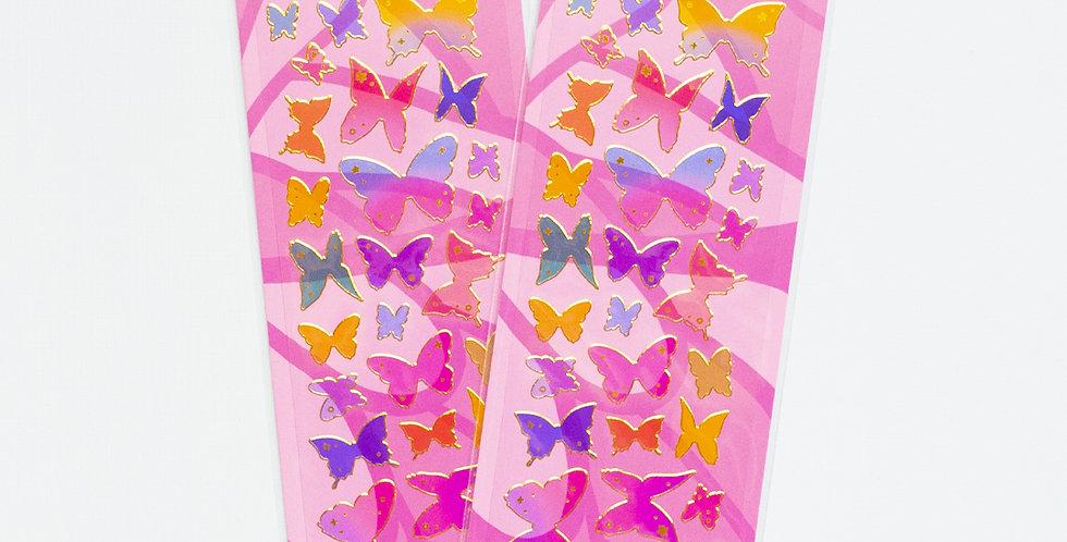 MANTA BOX Transparent Gilt Butterfly Sticker