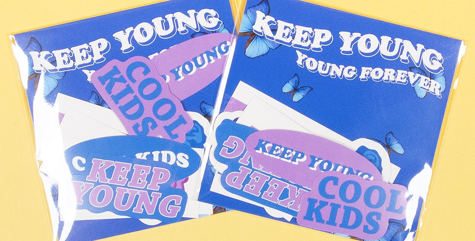 LOVE THINGS Keep Young Sticker Pack