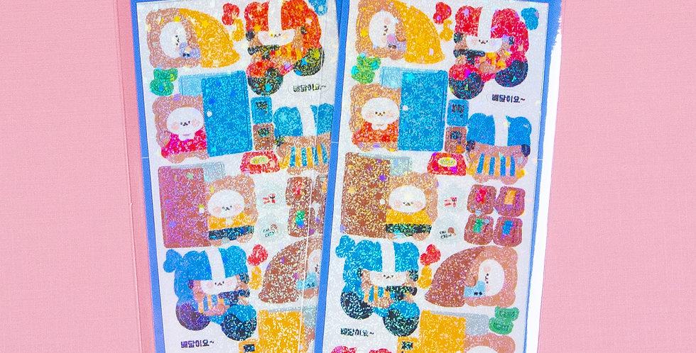 COTTON DANCHOO Delivery Sticker