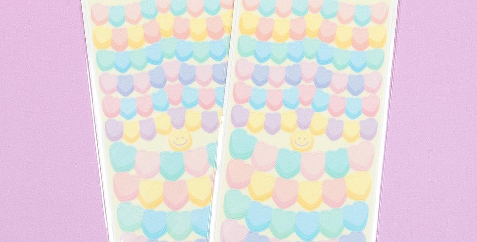 LEMON BERRY Heart Garland Sticker