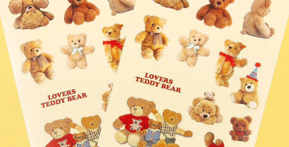 LOVE THINGS Lovers Teddy Bear Sticker