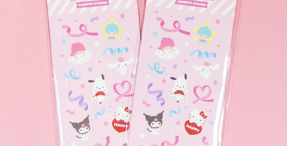 SANRIO Characters Confetti Sticker Pack