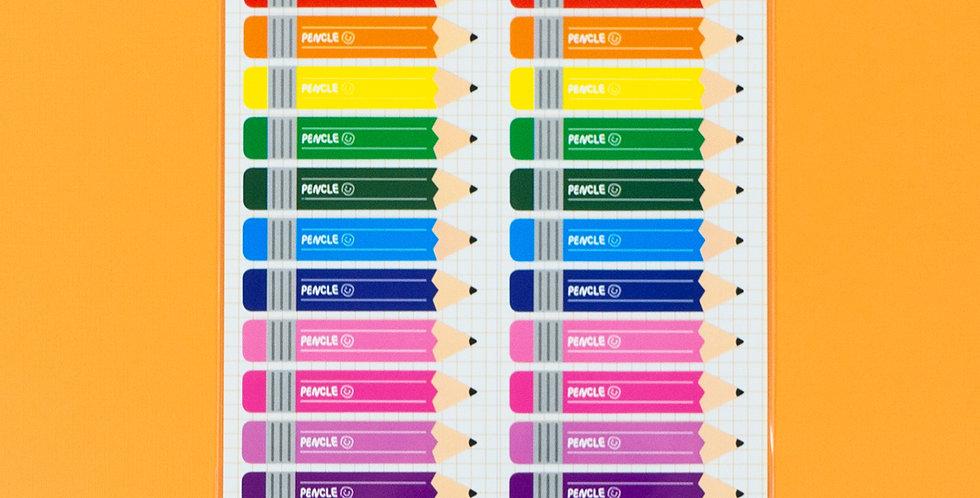WANNATHIS Rainbow Pencil Sticker