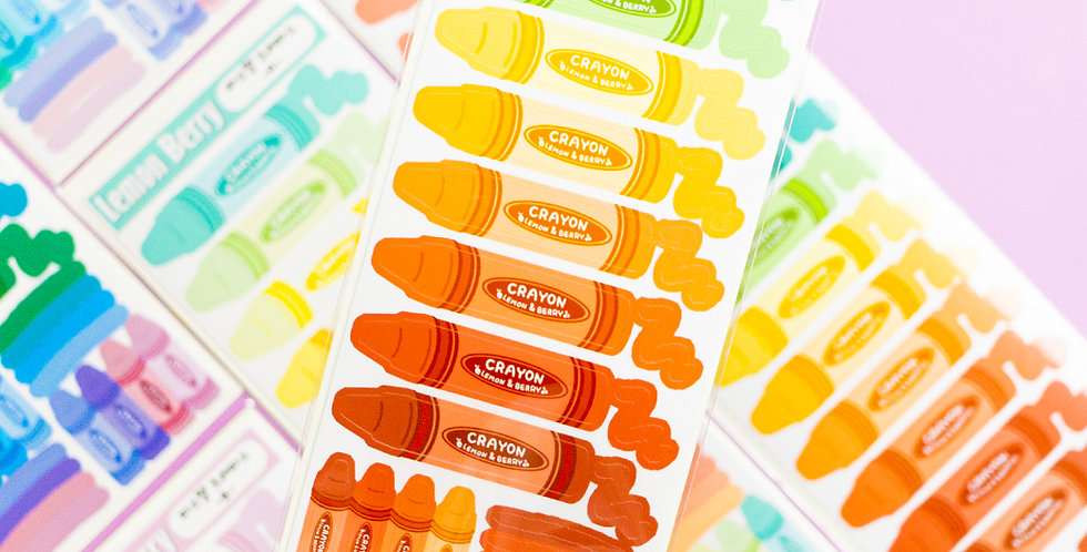 LEMON BERRY Crayon Sticker