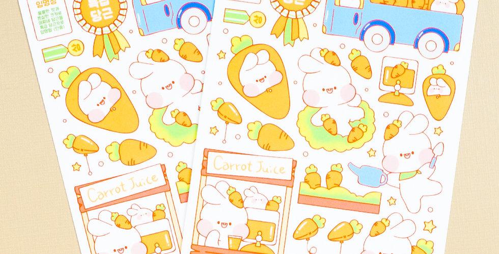 PUT SO NYEON Carrot Sales Sticker