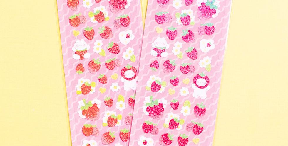 MANTA BOX Twinkle Strawberry Party Sticker