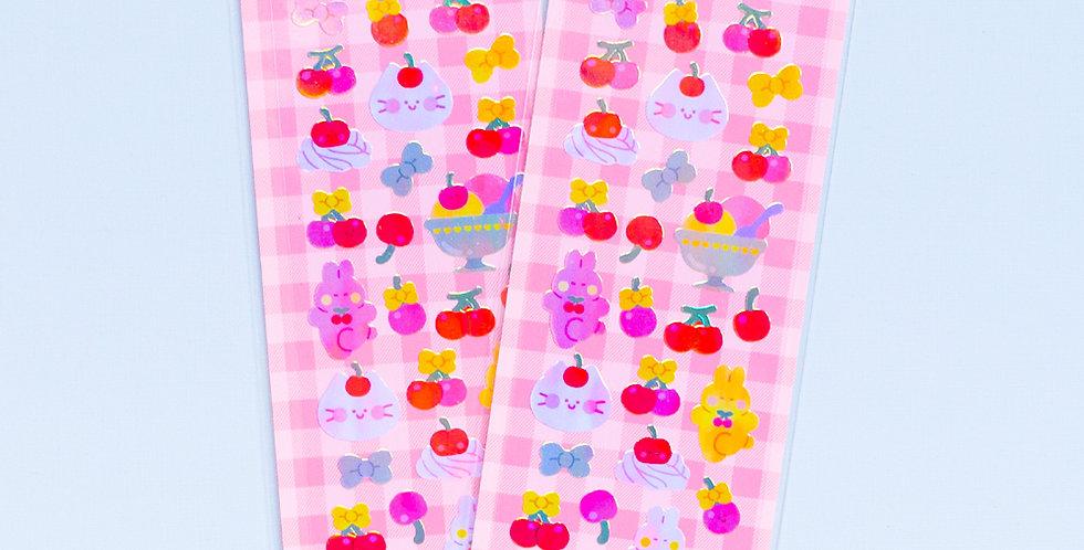 MANTA BOX Pearly Sweet Cherry Sticker