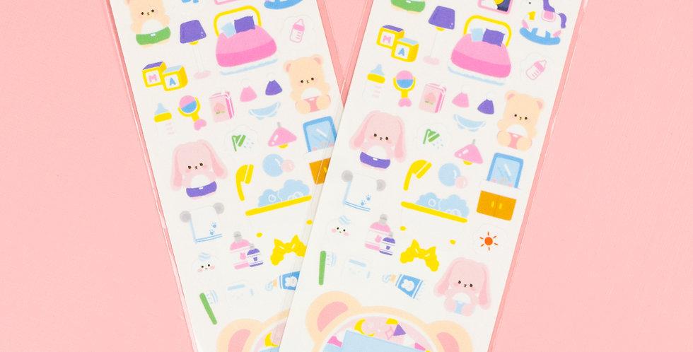 MANET Tamagochi Teddy Sticker