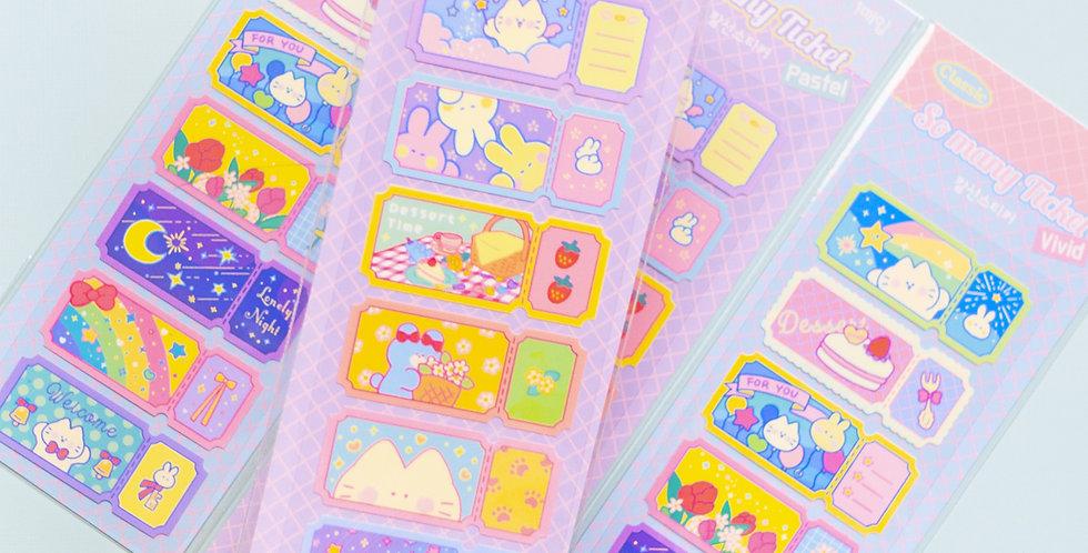MANTA BOX So Many Ticket Sticker