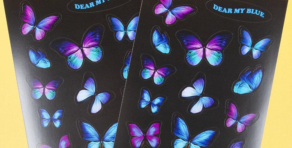 LOVE THINGS Dear My Blue Sticker