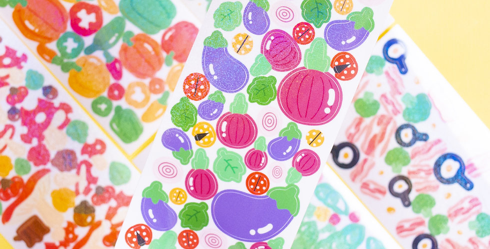 COTTON DANCHOO Vegetable Decoration Sticker