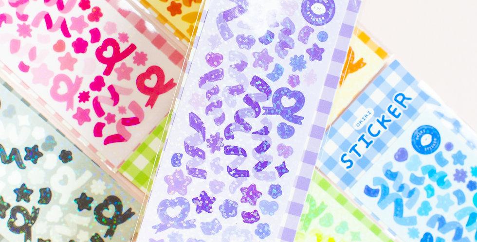 OKIKI Confetti Sticker