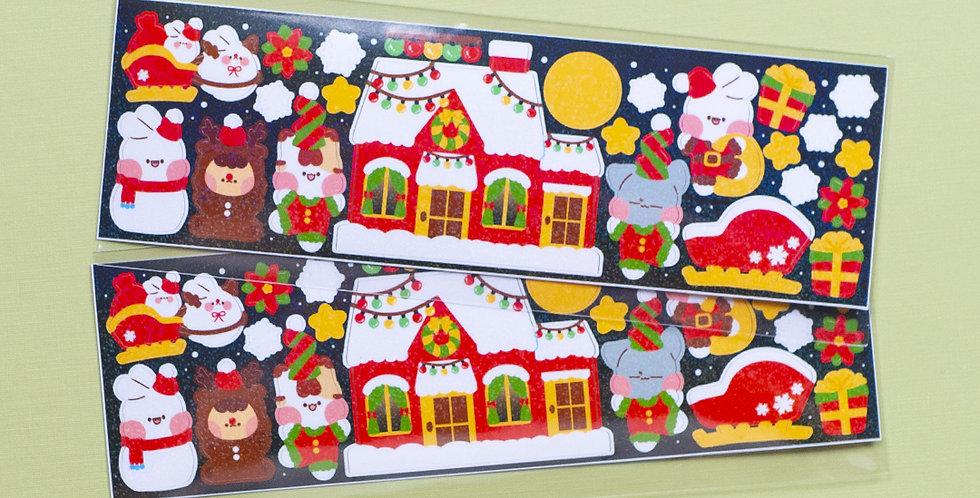 PUT SO NYEON Christmas Outside Sticker