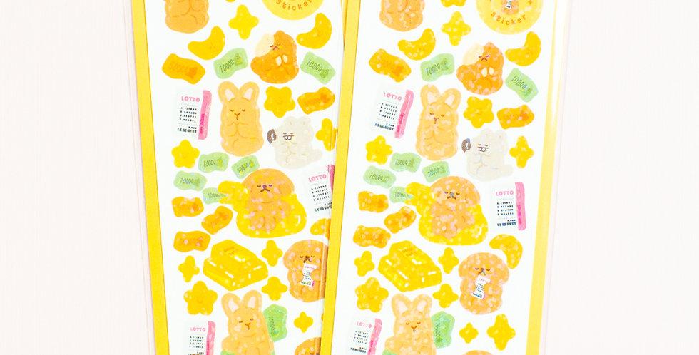 OKIKI I Want to Be Rich Sticker