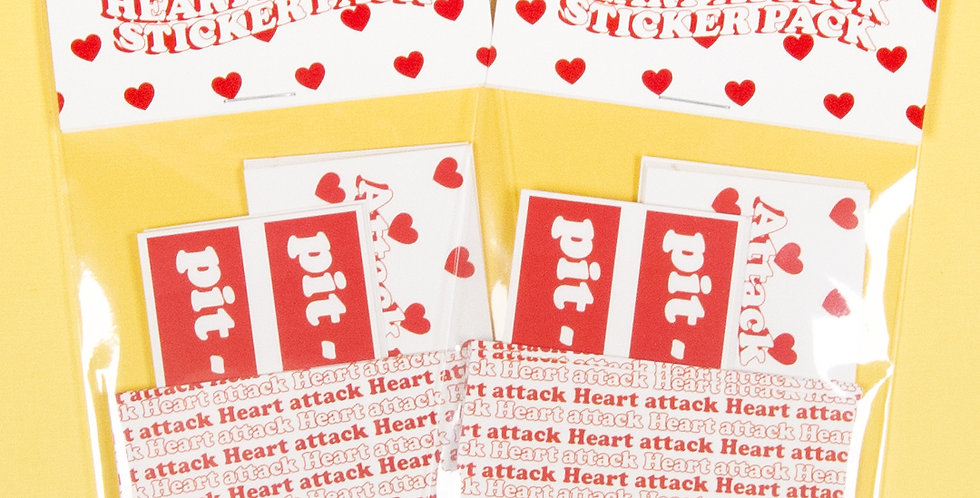 LOVE THINGS Heart Attack Sticker Pack