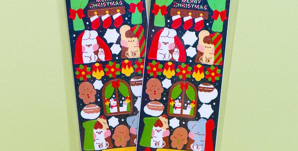 PUT SO NYEON Christmas Inside Sticker
