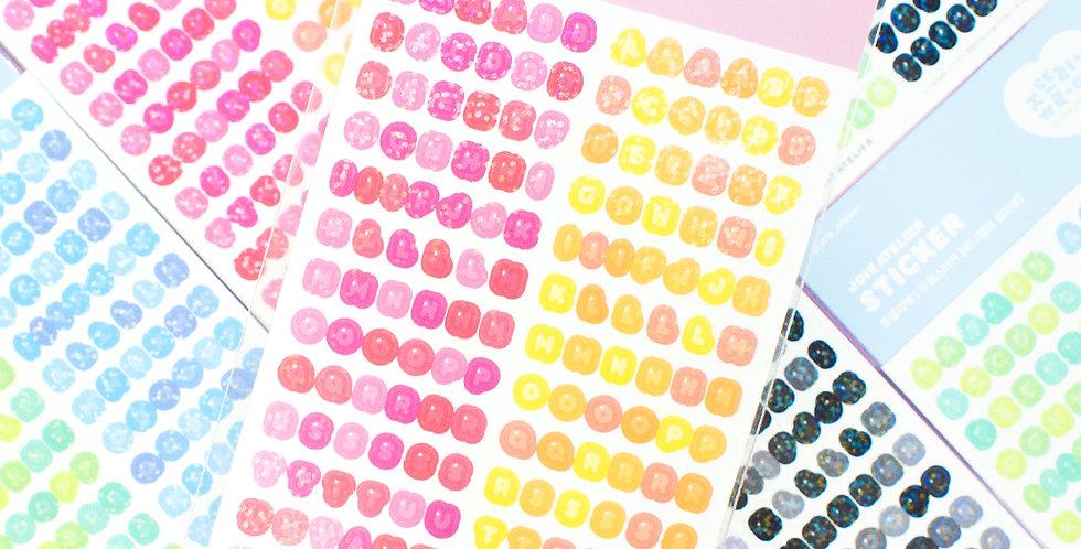 JOIE ATELIER Mini Jelly Alphabet Twin Sticker