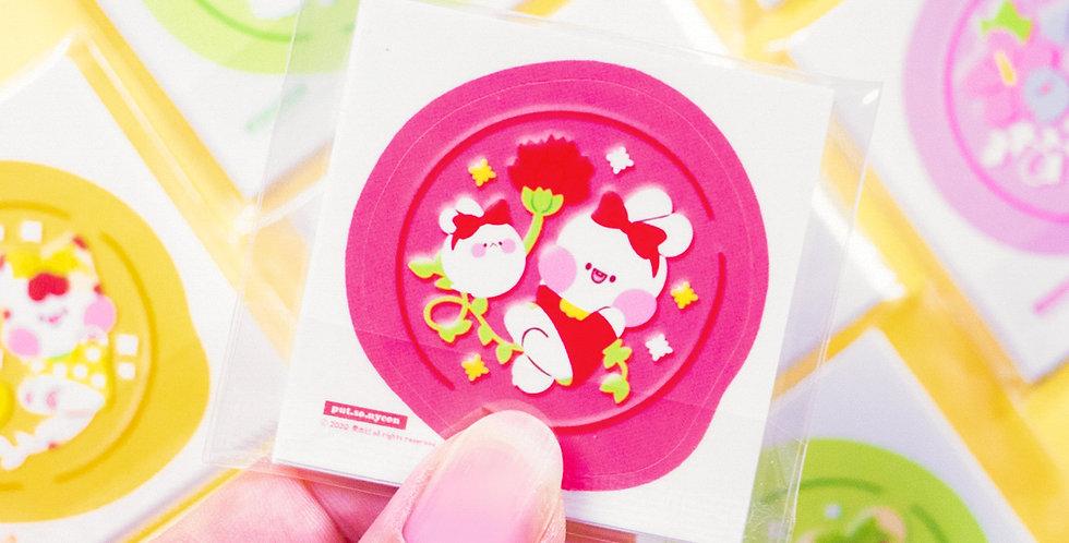 PUT SO NYEON Flower Sealing Wax Sticker