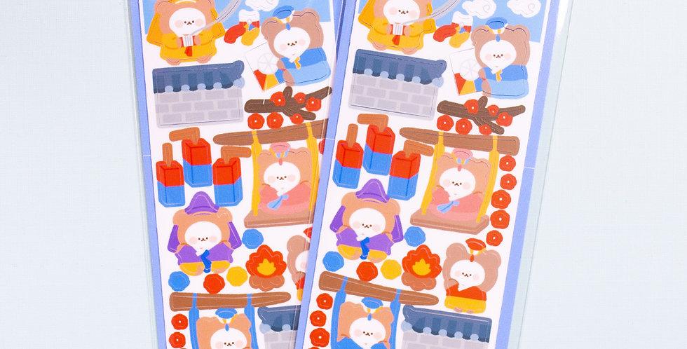COTTON DANCHOO New Year Outside Sticker