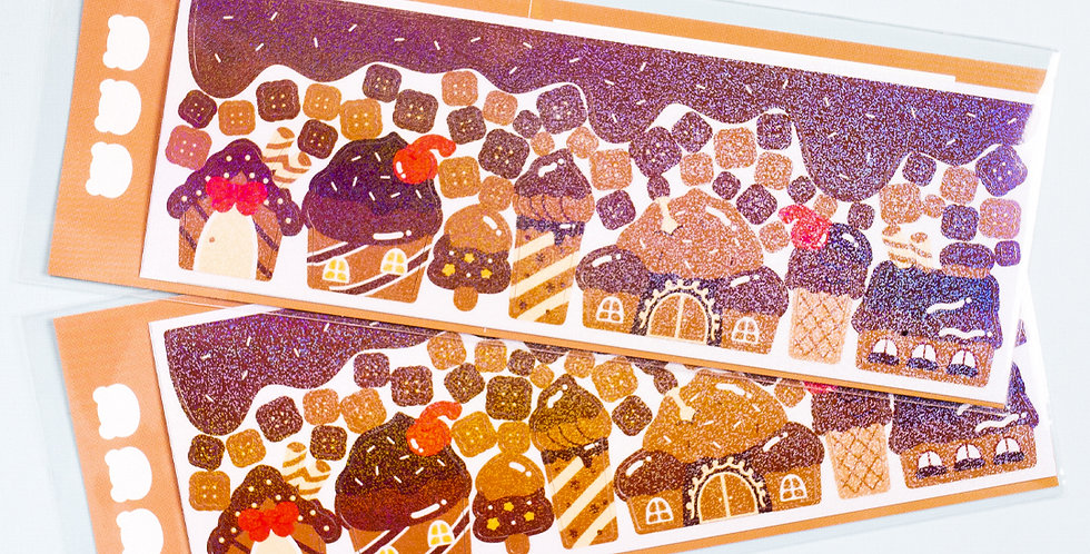 COTTON DANCHOO Chocolate Cookie House Sticker