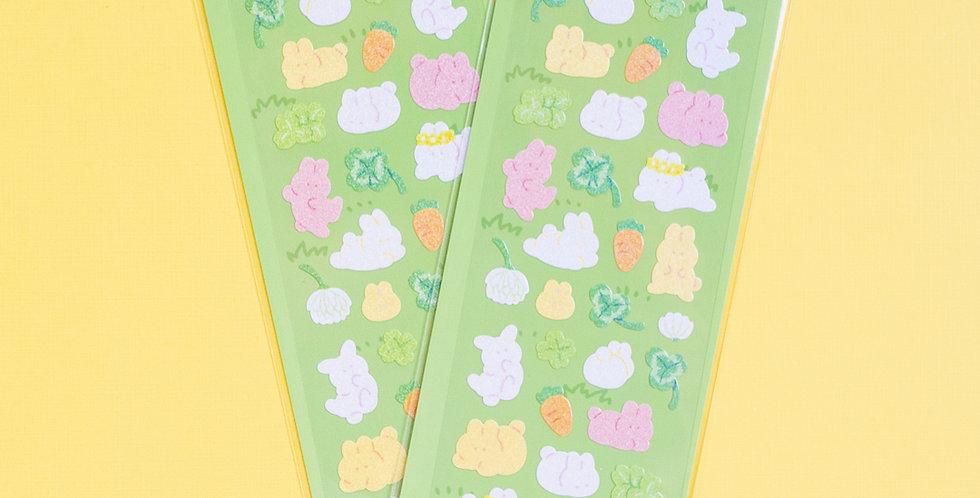 MANTA BOX Twinkle Rabbit & Clover Sticker
