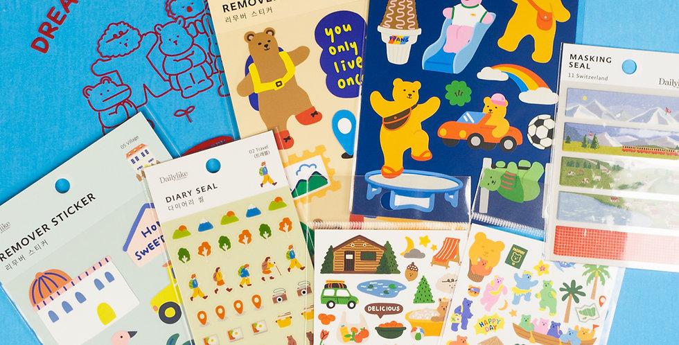 DAILYLIKE Daily Sticker Set -Travel