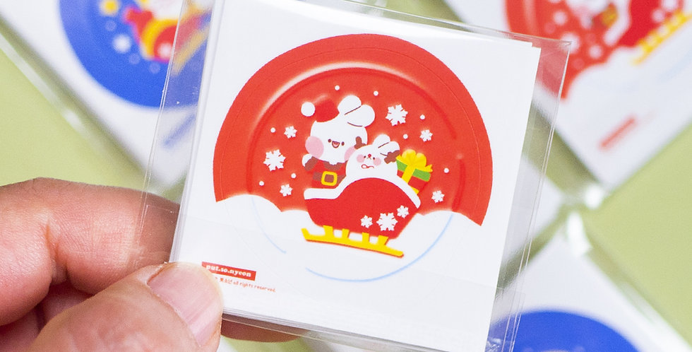 PUT SO NYEON Christmas Sealing Wax Sticker