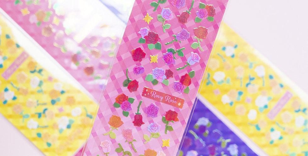 MANTA BOX Pearly Rosy Rose Sticker