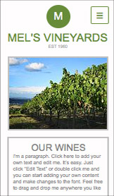 Reisen & Tourismus website templates – Das Weingut