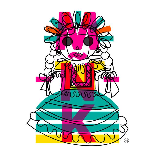 MUÑECA GARABATO - The Doodle Doll
