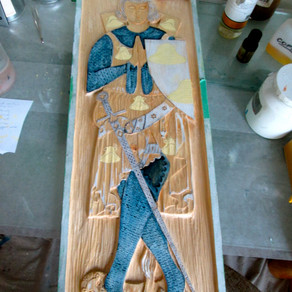 "Work on the First ""Medieval Effigies"" Piece Progresses..."