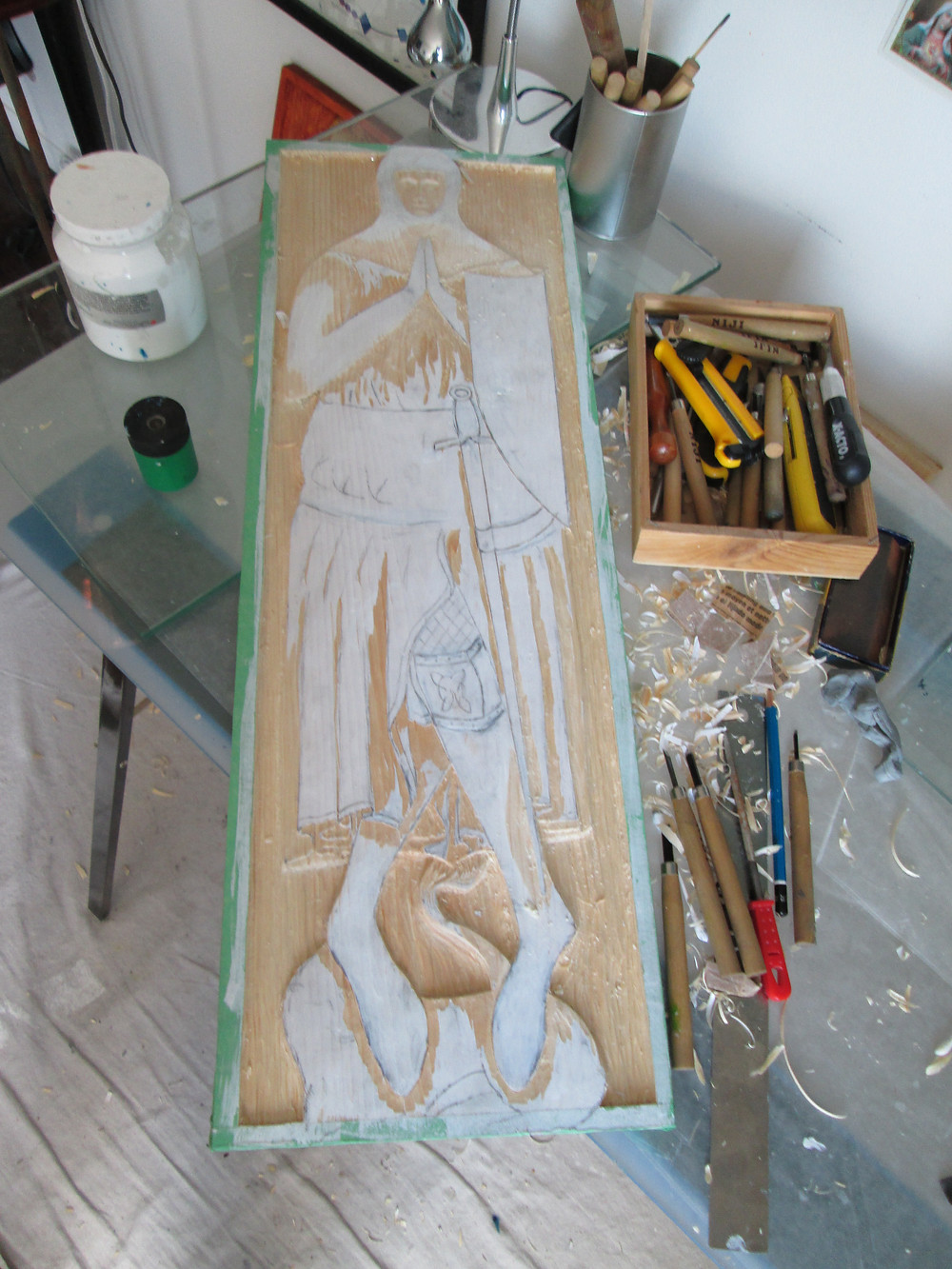 "Next ""medieval monument"": work piece in progress"