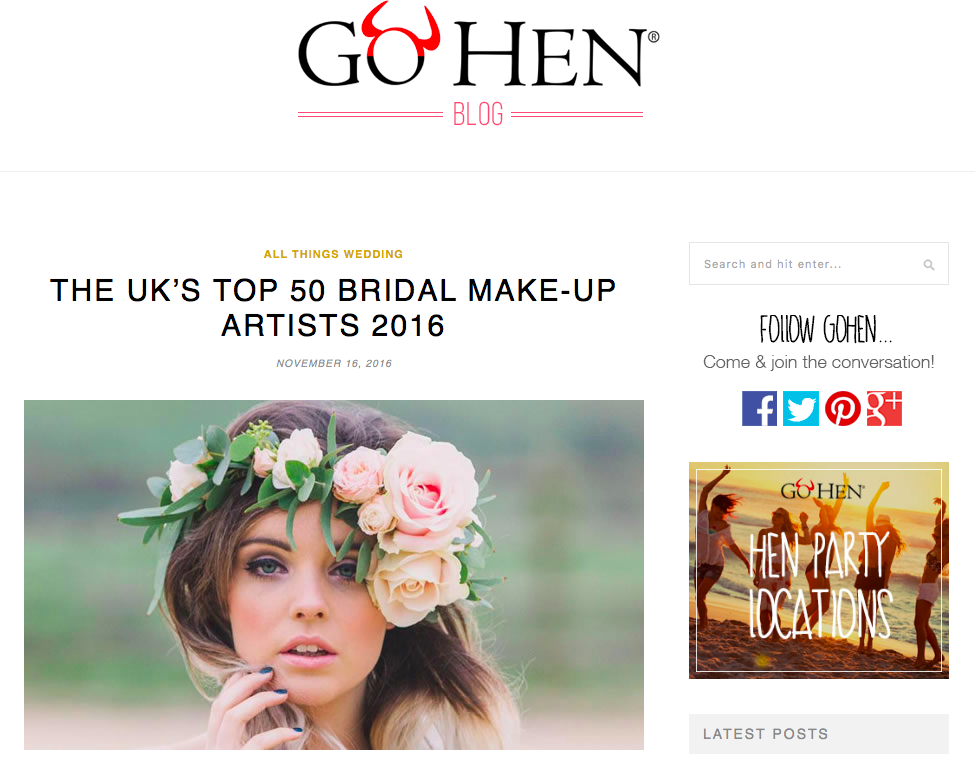 Go Hen Top UK Makeup Artist