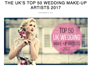 Top 50 UK Wedding Makeup Artists 2017