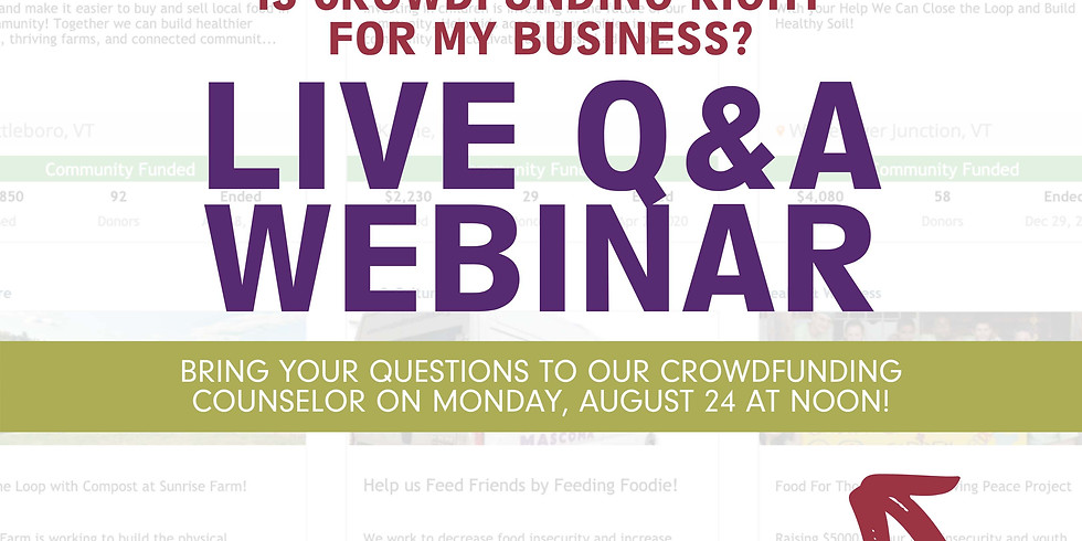 Live Q&A:  Is Crowdfunding Right for my Business?