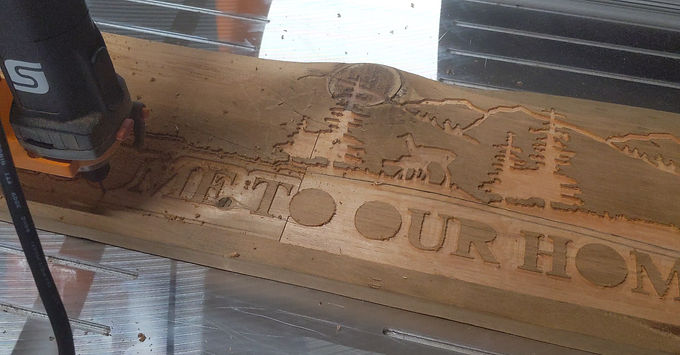 The Creation of One of Our Barnwood Welcome Sign